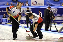 2016 World Men's Curling Championship, Canada vs. Germany, 5th April 2016 13.JPG