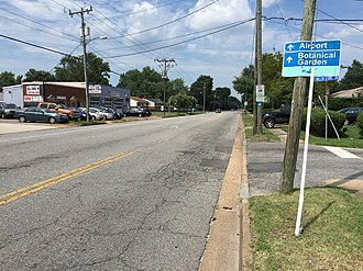 Virginia State Route 192 - View north along SR 192 at SR 165