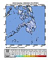 2018-11-04 Sapad, Philippines M6 earthquake shakemap (USGS).jpg