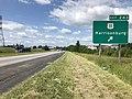 2019-06-06 10 40 42 View south along Interstate 81 at Exit 243 (U.S. Route 11, Harrisonburg) in Harrisonburg, Virginia.jpg
