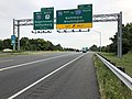 2019-08-05 08 33 46 View north along U.S. Route 15 and east along U.S. Route 340 (Jefferson National Pike) at Exit 10 (Interstate 70 EAST, TO Interstate 270 SOUTH, Baltimore, Washington) in Ballenger Creek, Frederick County, Maryland.jpg