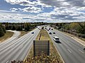 2019-10-17 13 10 48 View west along Virginia State Route 294 (Prince William Parkway) from the overpass for Virginia State Route 849 (Caton Hill Road) in Potomac Mills, Prince William County, Virginia.jpg