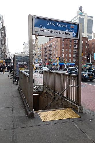 23rd Street (IND Sixth Avenue Line) - Image: 23rd St 6th Av 16