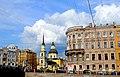 2590.Фонтанки наб.,32. Собственный дом И.Е.Старова, 1785, 1879 гг. и церковь Симеона и Анны.jpg