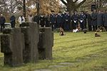 2985823 Leaders from the U. S. 52nd Fighter Wing and German citizens pause during a German National Day of Mourning observance ceremony at the Kolmeshöhe Military Cemetery in Bitburg 2016.jpg