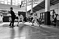 2nd Leonidas Pirgos Fencing Tournament. A close encounter between a fencer and the referee.jpg