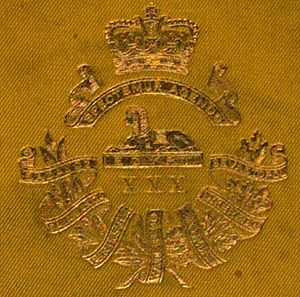 30th (Cambridgeshire) Regiment of Foot - Badge of the 30th (Cambridgshire) Regiment of Foot