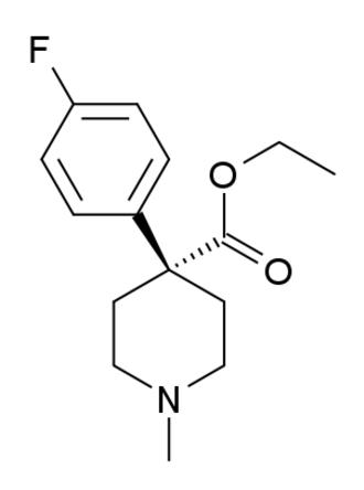 4-Fluoropethidine - Image: 4 Fluoromeperidine