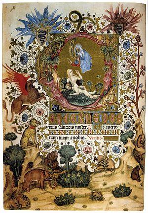 Hours of Gian Galeazzo Visconti - Visconti Hours LF46v, attributed to Belbello da Pavia