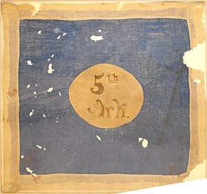 5th Arkansas Infantry Regiment - Hardee Pattern Flag of the 5th Arkansas