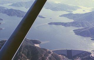 Shasta Lake the reservoir behind Shasta Dam