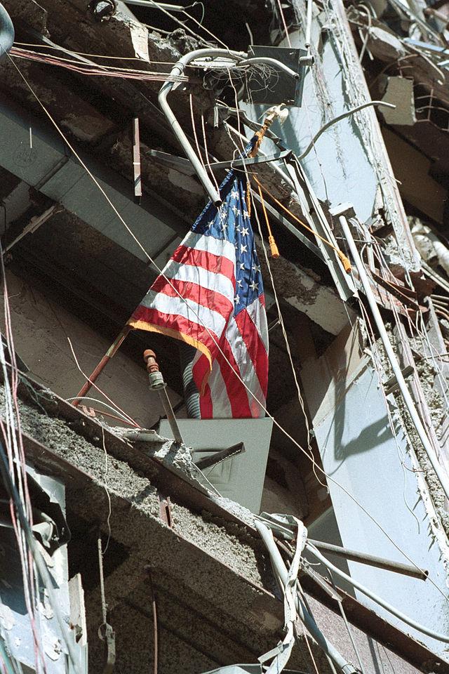 World Trade Center American flag