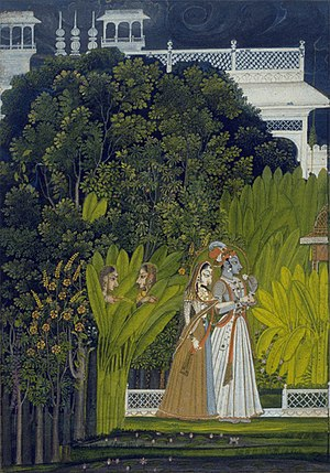Bani Thani - Image: 7 attrib to Nihal Chand Raja Savant Singh and Bani Thani as Krishna and Radha Artwork ca 1760 Fine Arts Museums of San Francisco