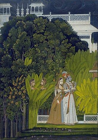 Bani Thani - Image: 7 attrib to Nihal Chand Raja Savant Singh and Bani Thani as Krishna and Radha Artwork ca 1760 Fine Arts Museums of San Francisco