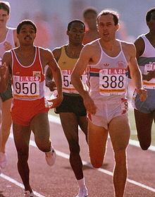 Steve Ovett (# 388) at the 1984 Olympic Games