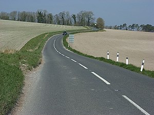 A345 road - Image: A345, Upavon geograph.org.uk 396856