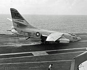 A3D-2 nose wheel collapse USS Saratoga