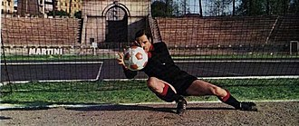 Fabio Cudicini - Fabio Cudicini in action for the photographer at the Arena Civica in 1970