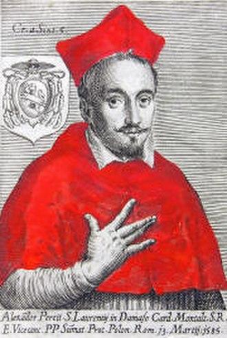 Alessandro Peretti di Montalto - Cardinal Alessandro Peretti de Montalto