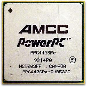 PowerPC 400 - A 533 MHz AMCC PowerPC 440SPe processor from a RAID card in an Apple Xserve.