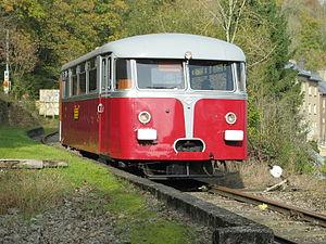 Uerdingen railbus - Uerdinger Schienenbus (prototype) in Bois de Rodange