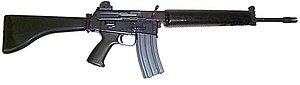 The Armalite AR-18 - obtained by the IRA from the USA in the early 1970s and an emotive symbol of its armed campaign.