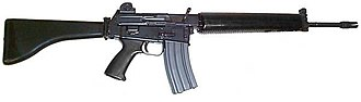 Provisional Irish Republican Army arms importation - The Armalite AR-18 – obtained by the IRA from the United States in the early 1970s and an emotive symbol of its armed campaign
