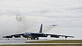 A B-52H Stratofortress taxis down the runway (29316223593).jpg