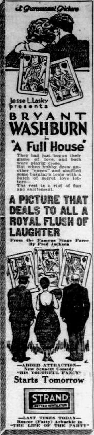 A Full House - Newspaper ad