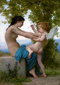 A Girl Defending Herself against Eros, by William-Adolphe Bouguereau