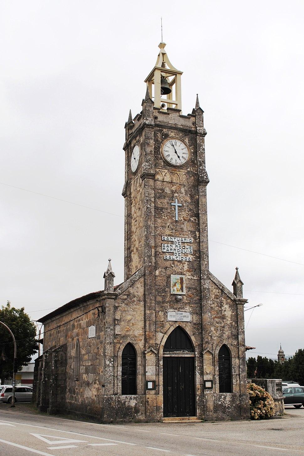 Capela de San Roque de Salcidos, na Guarda, Pontevedra.