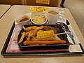 A New Zealand beef steak with corn and sausage with potatoes with dinner set in café de coral.jpg