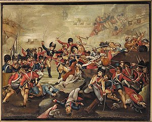 Siege of Seringapatam (1799) - A Qajar Persian copy of a British painting of the assault