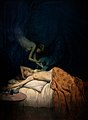 A giant claw pierces the breast of a sleeping naked woman, a Wellcome V0017052.jpg