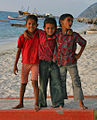 A group of children on a beach at Kavaratti, Lakshadweep.jpg