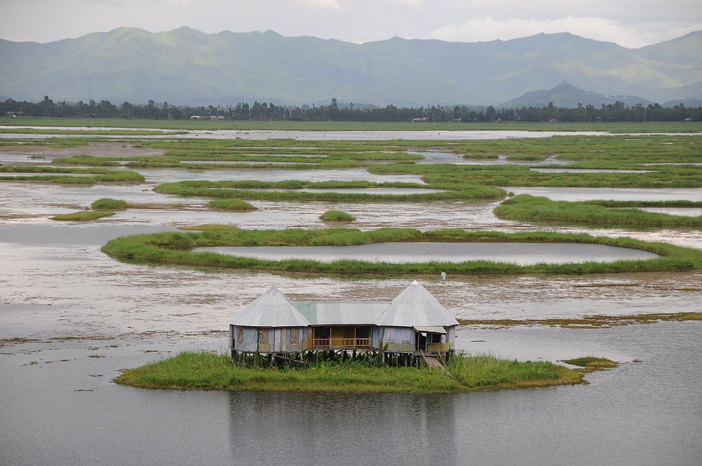 A home on Loktak Lake Moirang Manipur India