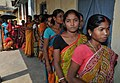 A large number of women voters in a queue to cast their votes, at a polling booth, during the 5th Phase of General Elections-2014, at Darjeeling, West Bengal on April 17, 2014.jpg