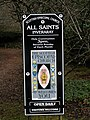 A sign outside All Saints Church - geograph.org.uk - 1122238.jpg