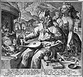 A young woman, probably Prudentia, warns an alchemist of the Wellcome L0004314.jpg