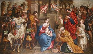 Hendrick de Clerck - Hendrick De Clerck, The Adoration of the Magi, 1629. Anderlecht, Church of Saint Guido and Saint Peter.