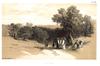 Villa Badessa, Lithografie von Edward Lear, 1846