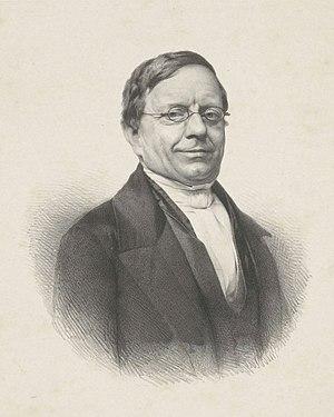 Abraham Jacob van der Aa - Abraham Jacob van der Aa, portrait by Adrianus Johannes Ehnle