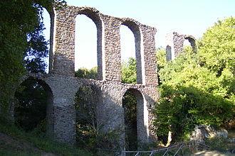 Canale Monterano - Roman aqueduct in Monterano.