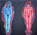 Adam and Eve mix media on canvas 152x182cm 1983.jpg
