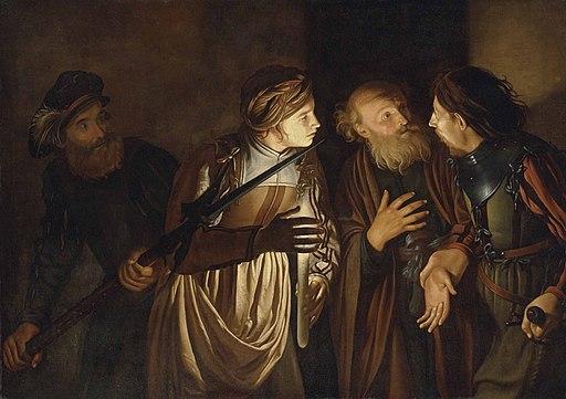 Adam de Coster - The Denial of Saint Peter
