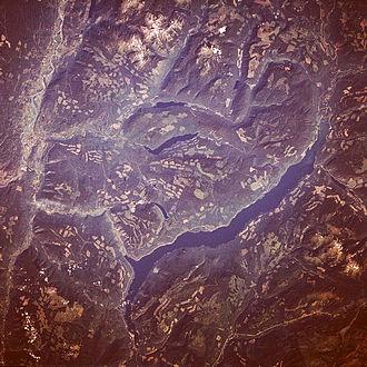 Adams Lake - Adams Lake from space (August 1989)