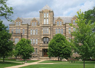 National Register of Historic Places listings in Cleveland - Image: Adelbert Hall Case Western Reserve University