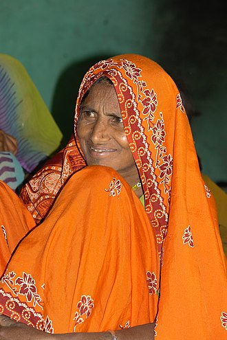 Bhil people - Image: Adivasi woman in Raisen district, MP, India