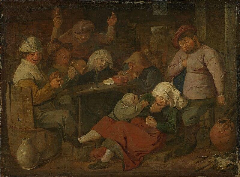 Adriaen Brouwer - Inn with drunken peasants.jpg