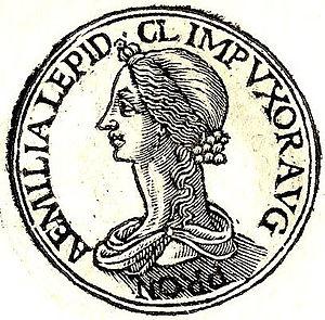 """Aemilia Lepida (fiancee of Claudius) - Aemilia Lepida from """"Promptuarii Iconum Insigniorum """""""